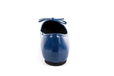 Baleríny klasické lesklé modré