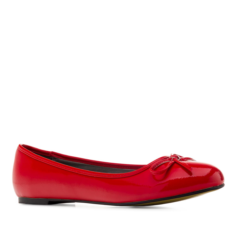 Baleríny klasické lesklé červené