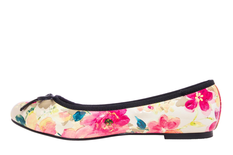 Klasične baletanke sa mašnicom, cvetne multikolor