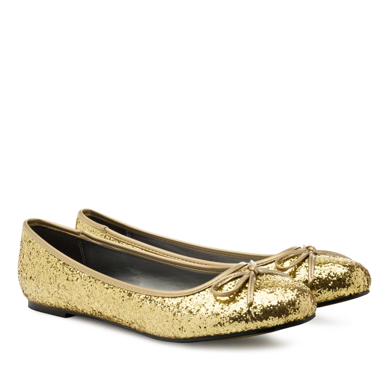 Kultaiset glitter Ballerinat