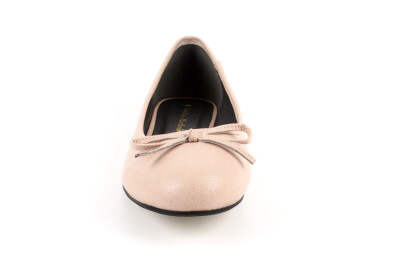 Beiget nahkajäljitelmä ballerinat
