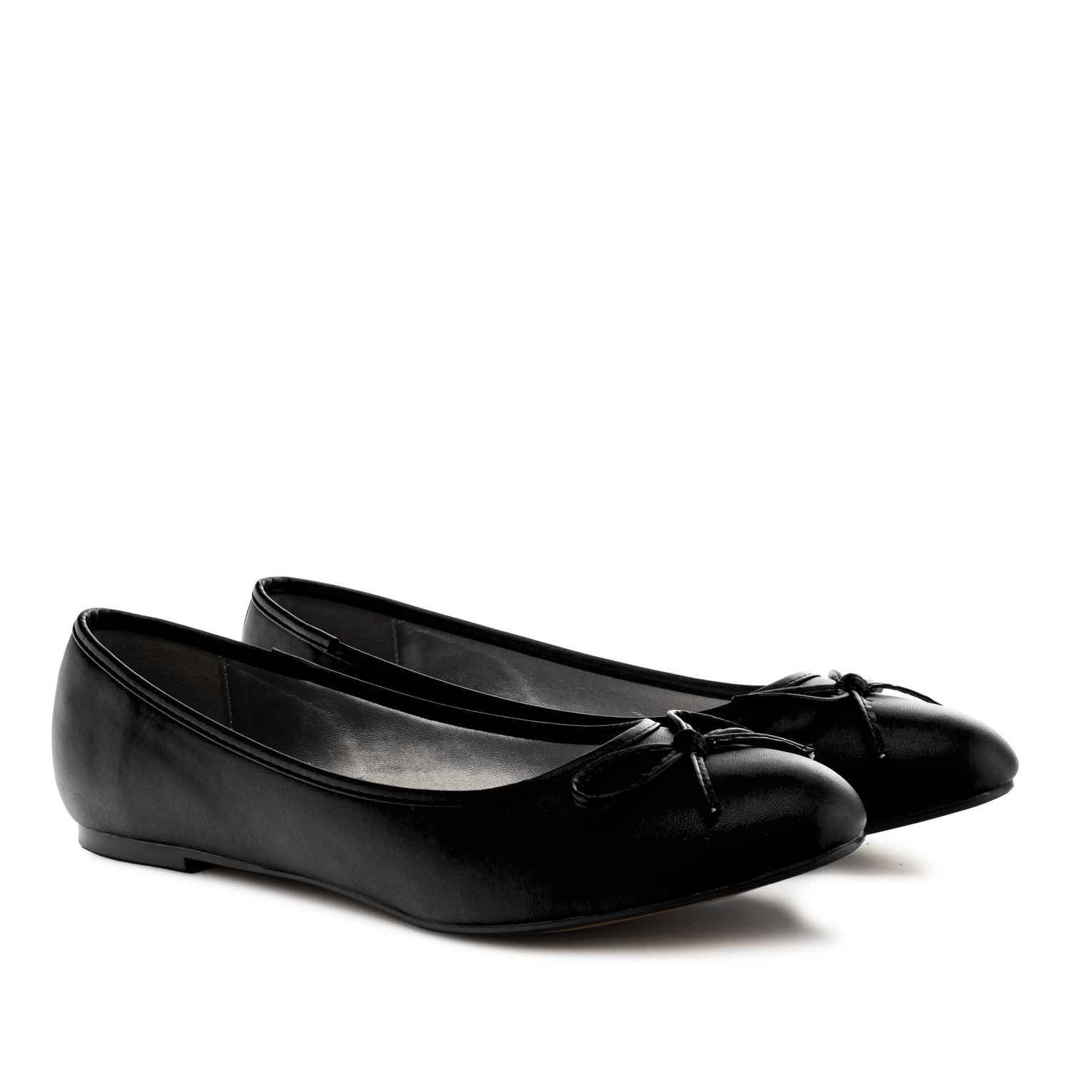 Classic Big Flat Ballerinas in Black Soft
