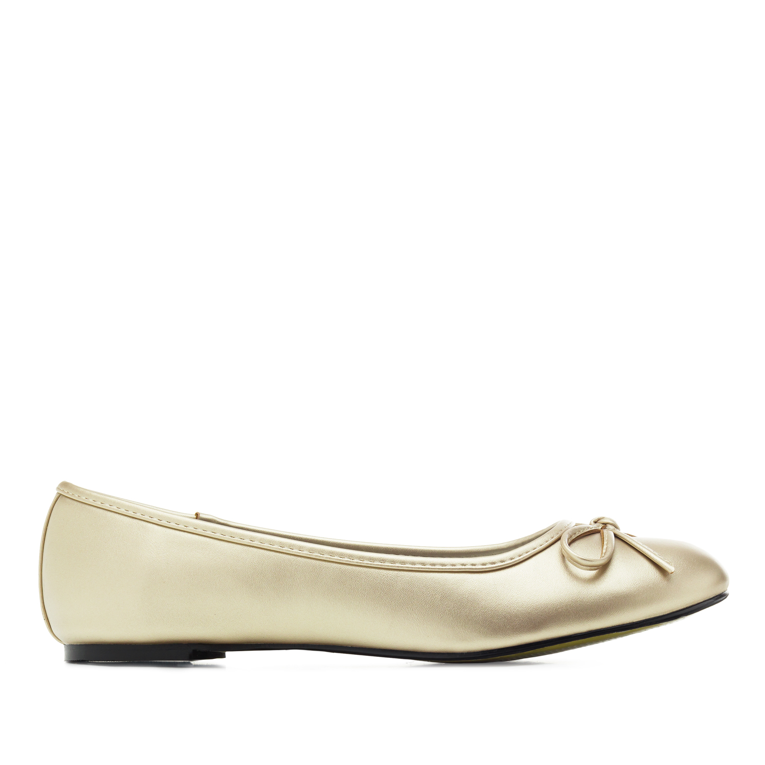 Classic Big Flat Ballerinas in Golden Soft