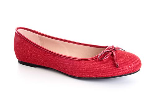 Bailarina Tejido Brillo Rojo.