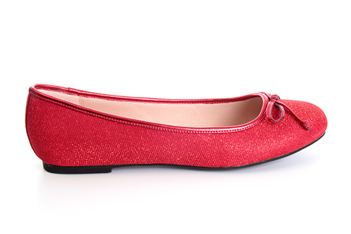 Klasične baletanke sa mašnicom, crvene