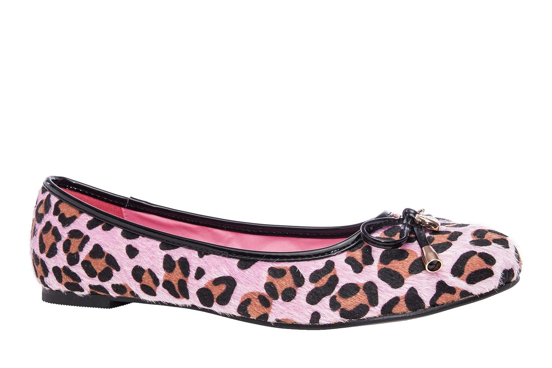Baleríny s mašličkou, růžový leopard.