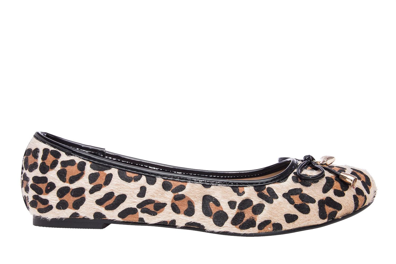 Klasične baletanke sa mašnicom, leopard šara