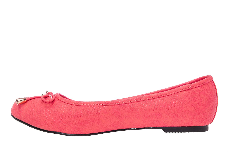 Klasične baletanke sa mašnicom, zmijsko-crvene