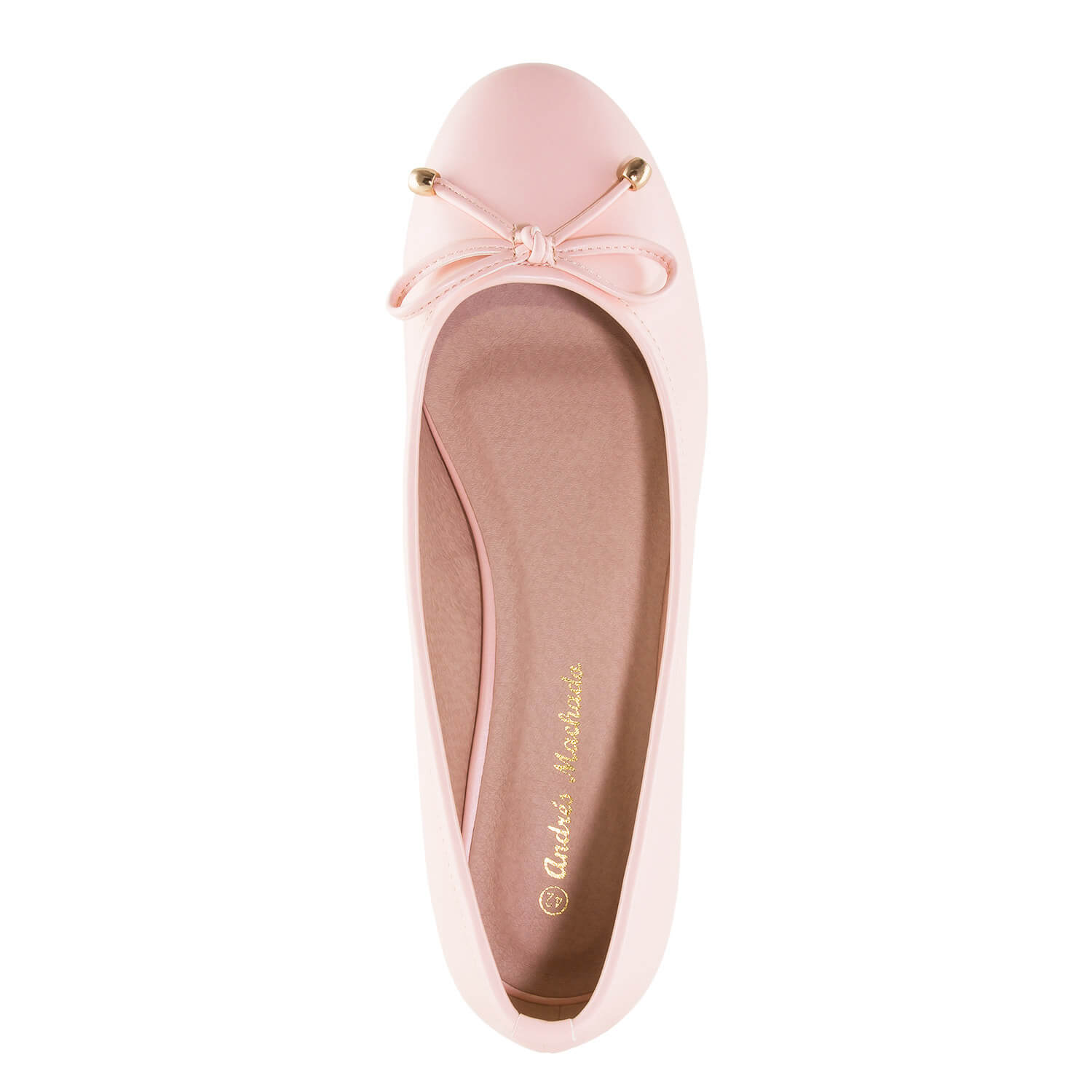 Pink faux Leather Ballet Flats