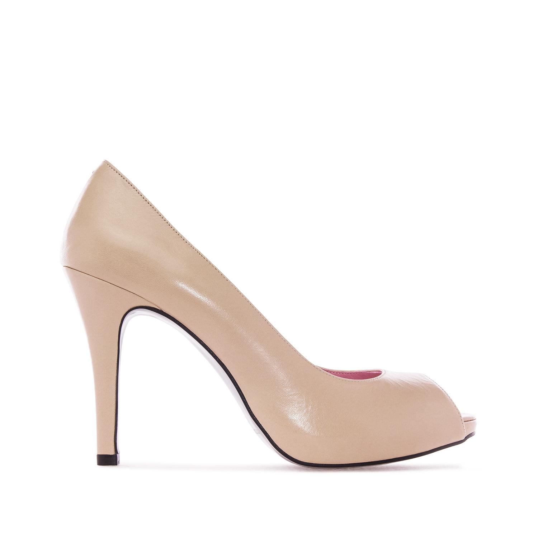 Beiget open-toe kengät