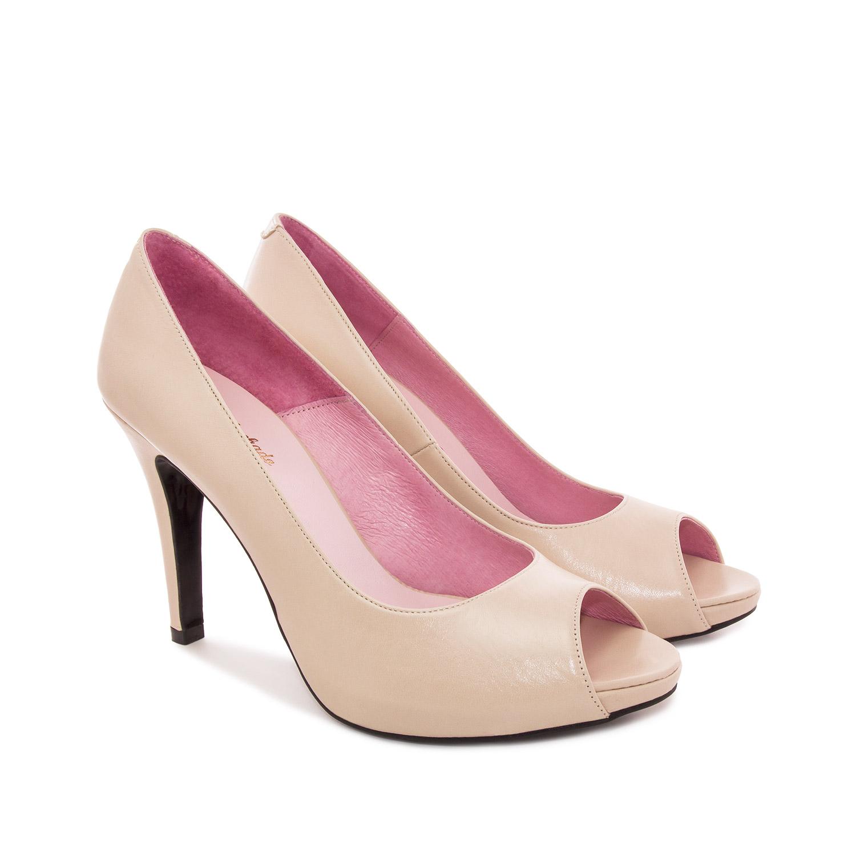 Zapato de Piel Beige
