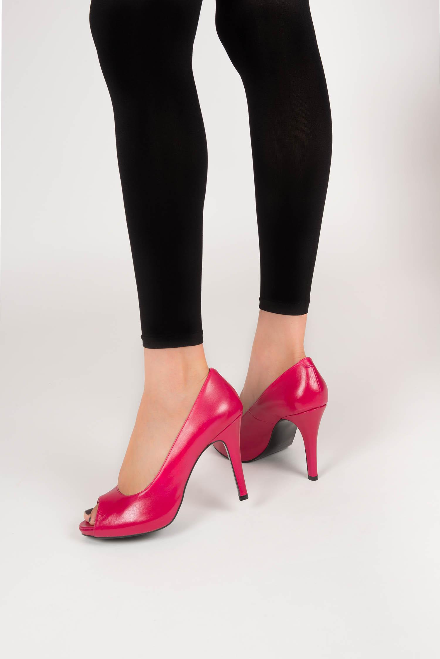Zapato de Piel Magenta
