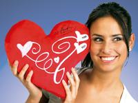 crveni jastuk u obliku srca