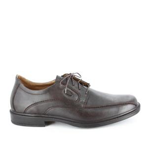 Pánská hnědá kožená obuv.