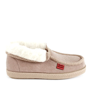 Beige Ankle High Slippers.