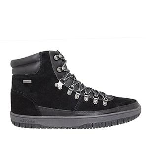 Semišové pánské boty kotníčkové, barva černá