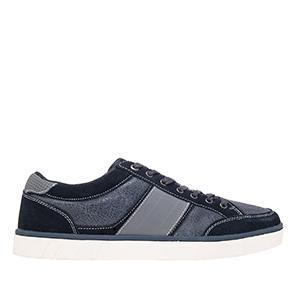Kožené, semišové skate boty, barva modrošedá