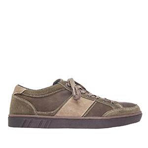 Kožené, semišové skate boty, barva hnědošedá.