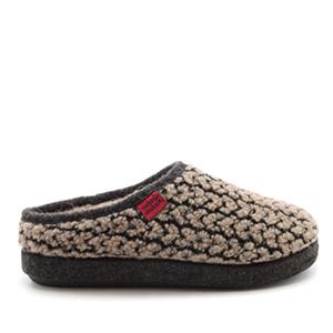 Módní bačkory- pantofle Alpino. Materiál jemná vlna. Hnědá a šedá.