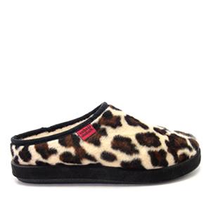Módní leopardí bačkory- pantofle Alpino. Materiál jemný plyš.