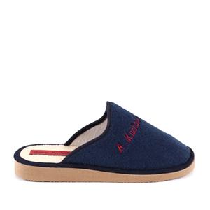 Modré froté papuče