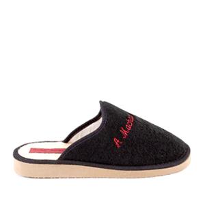 Černé froté papuče