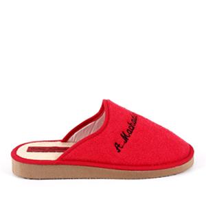Červené froté papuče
