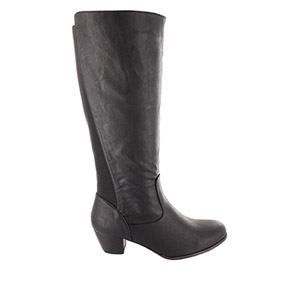 Black faux Leather Boots. Universal Width.