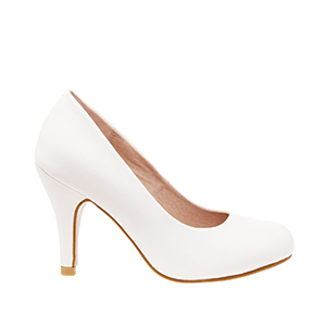 Classic White faux Soft-Leather Pumps