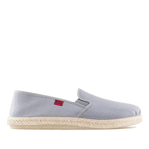 Mythical Grey Canvas Slip-On Shoes with Jute and Rubber Sole