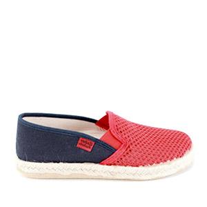 Kućne papuče u raznim bojama, teget-crvene