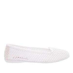Valkoiset verkkokangas kengät