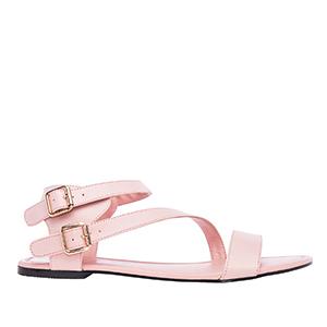Sandale rimljanke, soft svetlo roze
