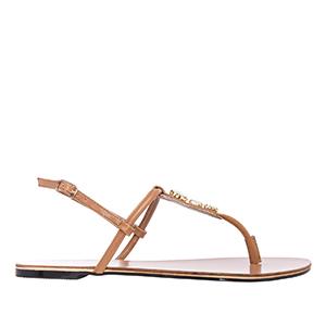Brown Soft Gemstone Sandals