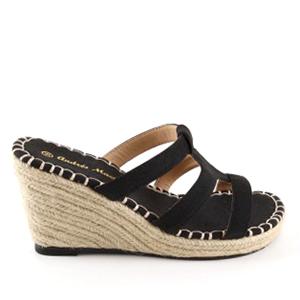 Papuče na platformu, crne