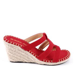 Papuče na platformu, crvene