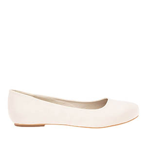 Classic Ballerinas in Pearl-coloured Satin