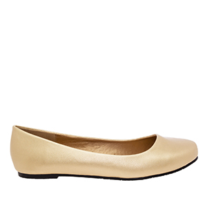 Classic Ballerinas in Gold faux Soft-Leather