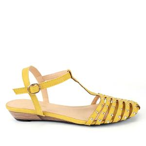 Sandale sa kaiševima na prednjem delu, žute