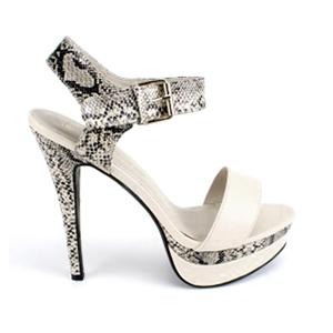 Visoke dvobojne sandale sa mini platformom, bež