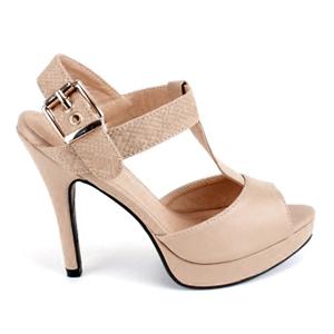 Sandale u Charelston stilu sa štiklom od 12 cm, bež
