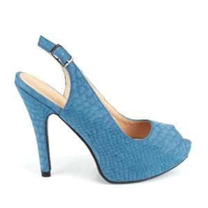 Otvorene sandale sa diskretnom šarom, plave