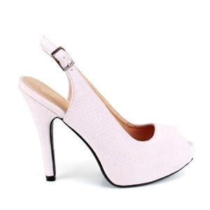 Otvorene sandale sa diskretnom šarom, roze