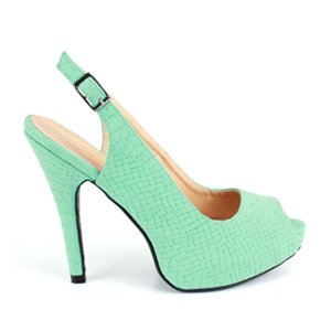 Otvorene sandale sa diskretnom šarom, zelene