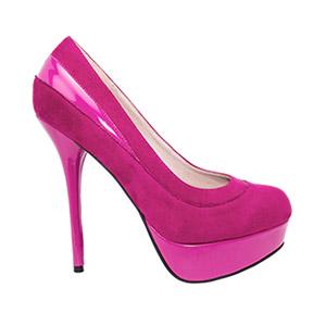 Zapatos en Ante Fucsia y Plataforma