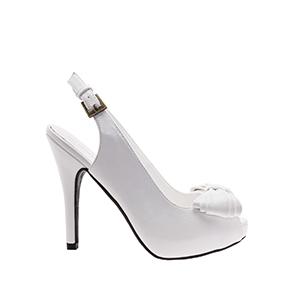 Sandalias Peep-Toes en Soft Blanco