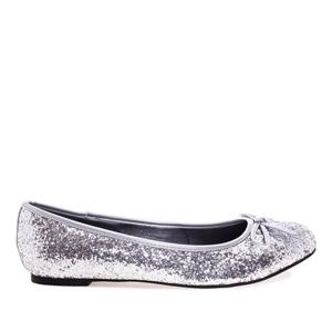 Baleríny klasické, glitry stříbrné