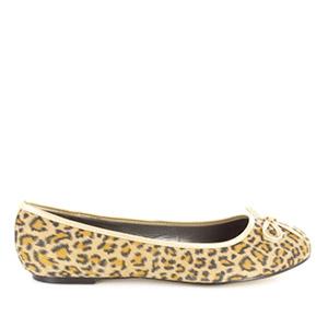Klasične baletanke sa mašnicom, leopard
