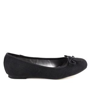 Mustat nahkajäljitelmä ballerinat