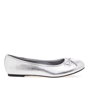 Baleríny klasické hladké stříbrné